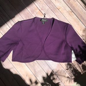 St. John cropped open front cardigan